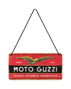 Metallplaat 10x20 cm / Moto Guzzi logo