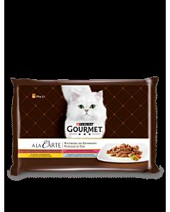 Multipakk Gourmet A la Carte / 4x85g / kana, forell, lõhe, loomaliha