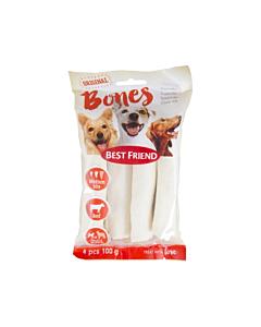 Best Friend koera maius Bones närimisrull valge S/M ./ 100g