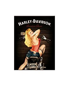 Magnet / Harley-Davidson Biker Babe /LM