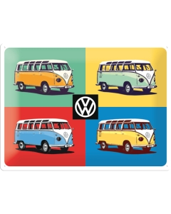 Metallplaat 30x40cm / VW 4 Bullia Pop Art