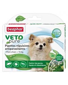 Beaphar VETO-Pure Spot-on parasiitide vastased tilgad koertele (< 15kg)