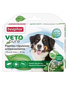 Beaphar VETO-Pure Spot-on parasiitide vastased tilgad koertele (< 30kg)