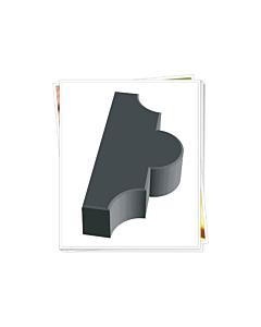 Plastvorm Ristikhein krobeline, 2 poolikut / 26,7x 21,8 x 6,0cm