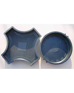 Plastvorm ring & rist / 25,0x25,0x4,5cm