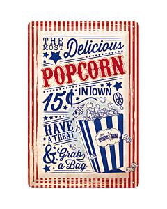 Metallplaat 20x30cm / Popcorn