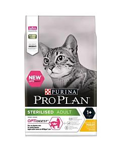 Pro Plan Sterilised Adult Optidigest täissööt kassidele kanaga