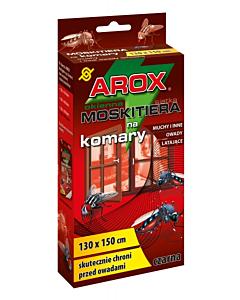Putukavõrk aknale AROX must + kinnitusteip / 150x180cm