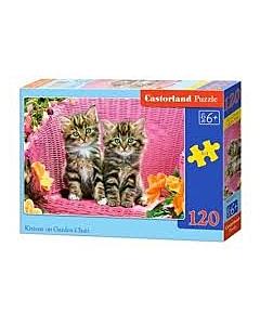 Puzzle Castorland Kittens on garden chair 32x23cm / LM