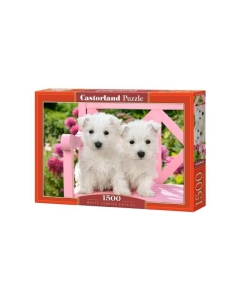 Puzzle Castorland White terrier puppies / 1500tk / 68x47cm / LM