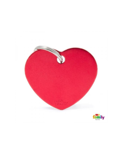 My Family Basic ripats süda, suur / punane