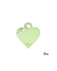 My Family Basic ripats süda, väike / roheline