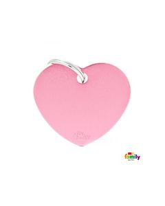 My Family Basic ripats süda, suur / roosa