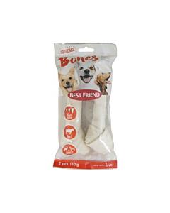 Best Friend koera maius Bones sõlmkont valge S/M / 130g