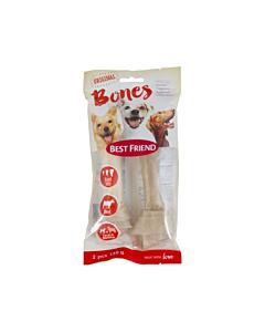 Best Friend koera maius Bones sõlmkont, naturaalne, keskmine tugevus, valge S/M / 130g