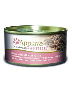 Applaws Senior kassikonserv želees tuunikala/lõhe / 70g
