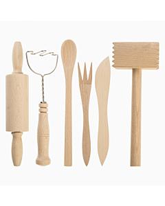 Sola laste kokkamiskomplekt puidust