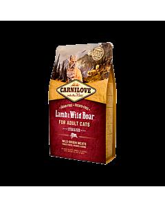 Carni Love kuivtoit täiskasvanud kassile lamba-&metssealihaga steriliseeritud kassidele / 2kg