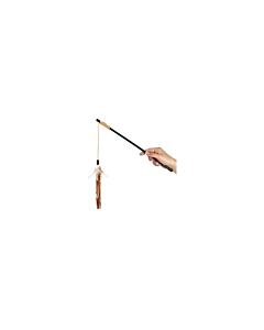 FLAMINGO kassi mänguasi suled õnge otsas / 50cm
