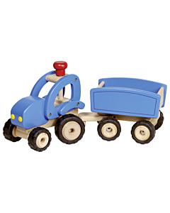 Suur traktor järelkäruga
