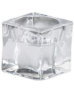 Стеклянный подсвечник для чайных свечей Bolsius