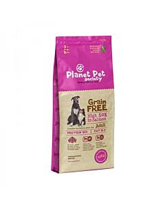 Planet Pet Society teraviljavaba täistoit  lõhe-kartuli täiskasvanud koertele / 12kg