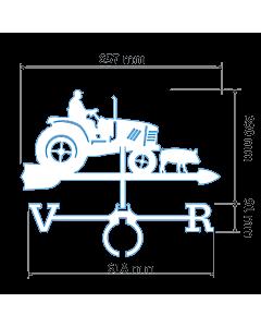 Флюгер Тракторист