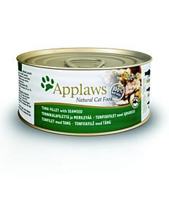 Kassikonserv Applaws tuunikala ja vetikaga / 70g