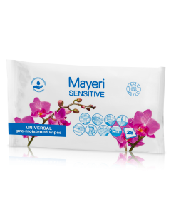 Universaalsed niisutatud puhastuslapid Mayeri Sensitive