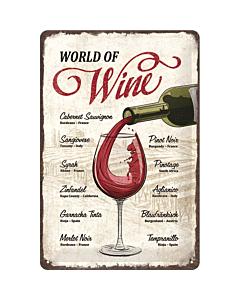 Metallplaat 20x30cm / World of wine
