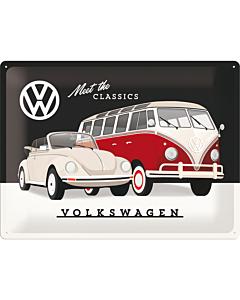 Metallplaat 30x40cm /  VW Meet The Classics